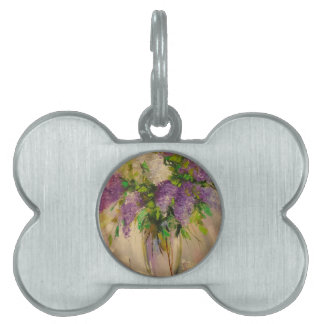 A bouquet of lilacs pet name tag
