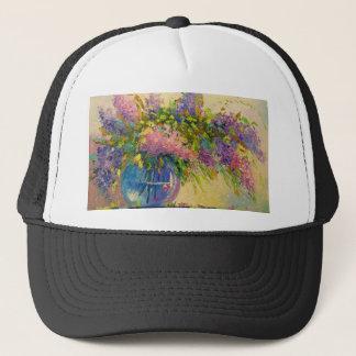 A bouquet of lilacs trucker hat