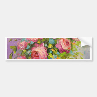 A bouquet of roses bumper sticker