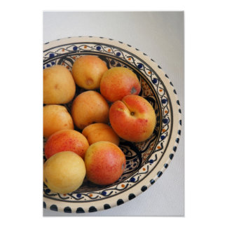 A bowl of Mediterranean Apricots 2 Poster