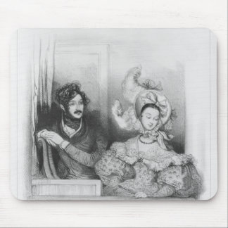 A box at the Theatre Italien, engraved by Frey Mouse Pad