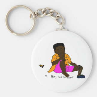 A Boy and His Bird Basic Round Button Key Ring