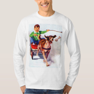 A boy and his dog cart T-Shirt