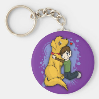 """A Boy and His Dog"" Keychain"
