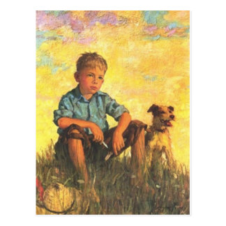 A Boy and his Dog Postcard