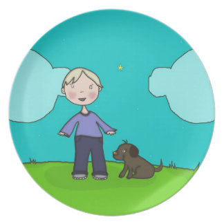 A Boy & His Dog Party Plate