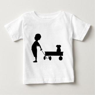 A BOY HIS WAGON AND HIS DOG BABY T-Shirt