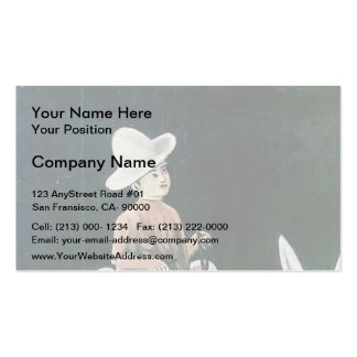 A boy on a donkey by Niko Pirosmani Business Card Templates