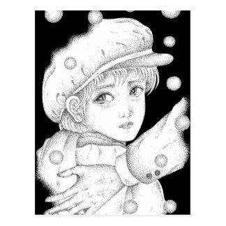A boy postcard