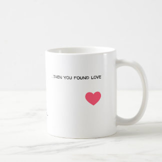 A boy walking around and finding love coffee mug