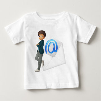 a boy with mail envelop tee shirts