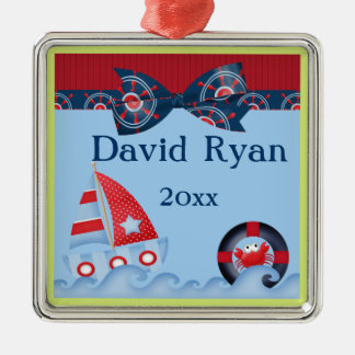 A Boys Sea Life Baby Shower Ornament