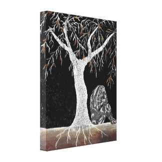A Branch of Life to Contemplate Canvas Print