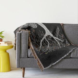 A Branch of Life to Contemplate Throw Blanket