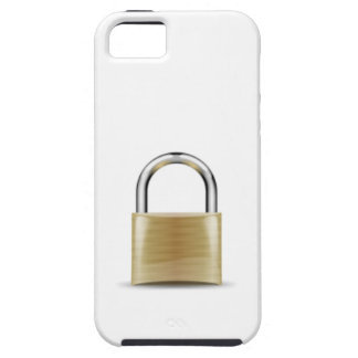 a brass lock case for the iPhone 5