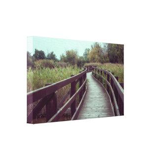 A bridge in the lagoon canvas print