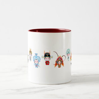 A brief introduction to Beijing Opera Two-Tone Coffee Mug