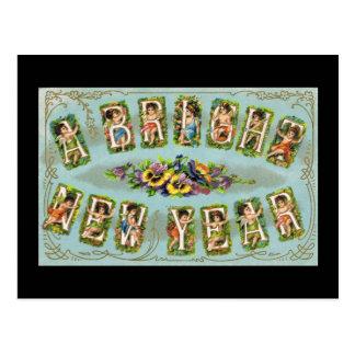 A Bright New Year Postcard