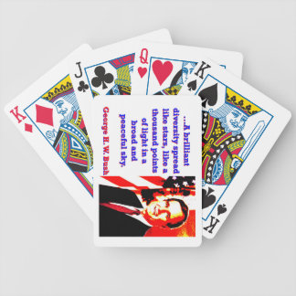 A Brilliant Diversity - George H W Bush Bicycle Playing Cards