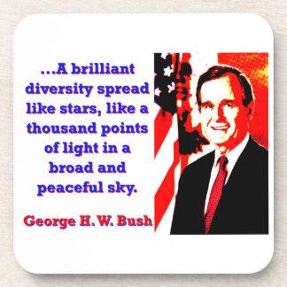 A Brilliant Diversity - George H W Bush Coaster