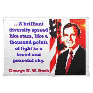 A Brilliant Diversity - George H W Bush Placemat