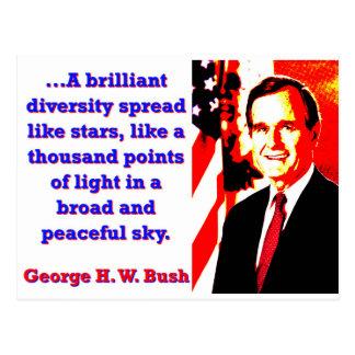 A Brilliant Diversity - George H W Bush Postcard