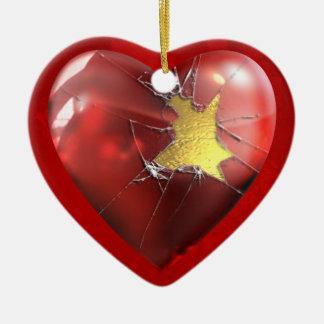 A Broken Heart Ceramic Ornament