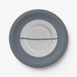 A Broken Saucer on a Plate Plate 7 Inch Paper Plate
