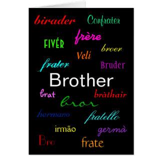 """A Brother's Birthday I"" Card - Customisable"