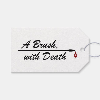 A Brush, with Death parcel tag