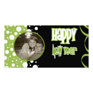 A Bubbly New Year Personalized Photo Card