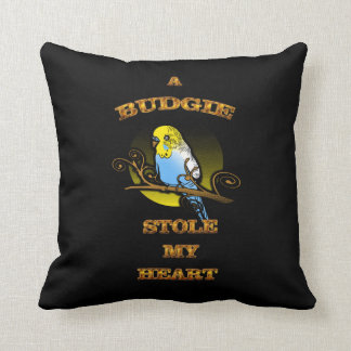 A Budgie Stole My Heart Cushion
