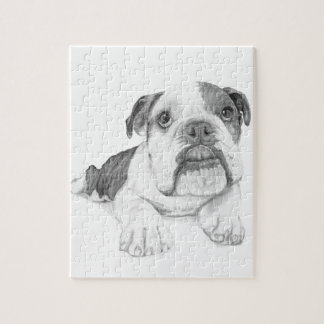 A Bulldog Puppy Drawing Puzzle