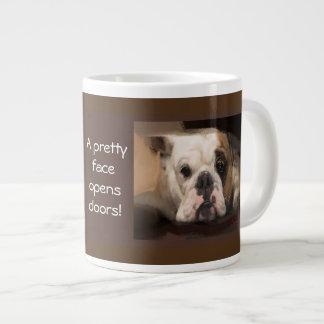 A Bulldog's Pretty Face Tote Bag Large Coffee Mug