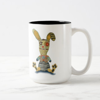 A Bunny on my Toes Two-Tone Coffee Mug
