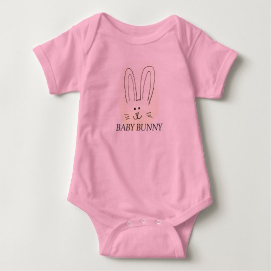 "A ""BUNNY"" outfit in time for EASTER Baby Bodysuit"