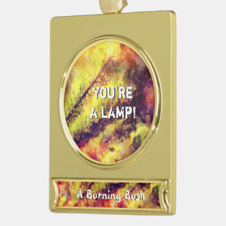 A Burning Bush Gold Plated Banner Ornament