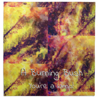 A Burning Bush Napkin