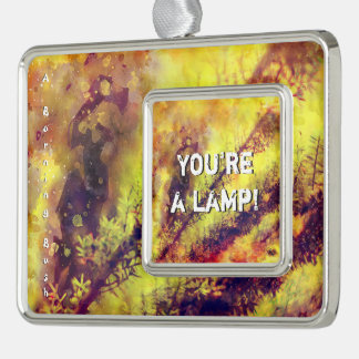 A Burning Bush Silver Plated Framed Ornament