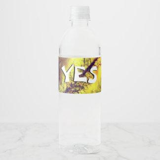 A Burning Bush Water Bottle Label