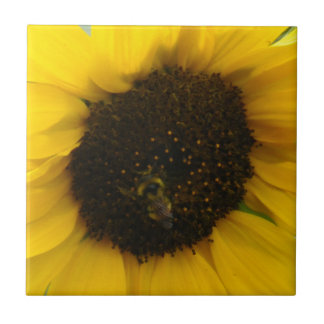 A Busy Bee Small Square Tile