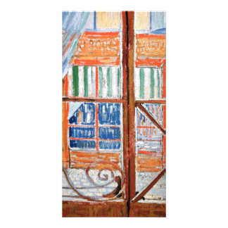 A Butchers Shop Seen from a Window by van Gogh Personalized Photo Card