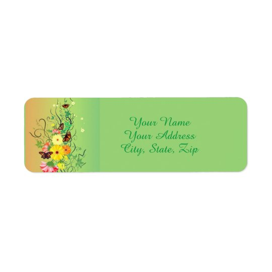 A Butterfly Tree Return Address Label