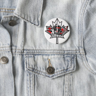 A button with maple leaf of Canada