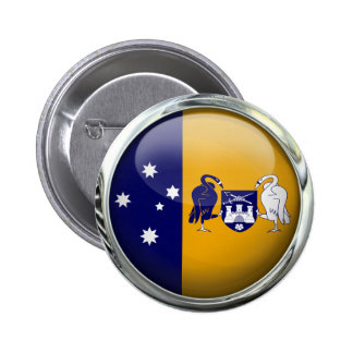 A.C.T. Australia State Flag Glass Ball 6 Cm Round Badge
