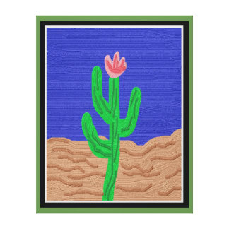 A Cactus Flower Canvas Print