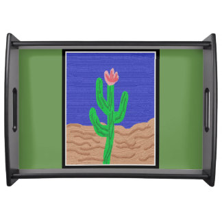 A Cactus Flower Serving Tray