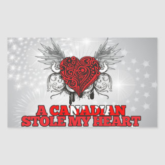 A Canadian Stole my Heart Rectangular Sticker