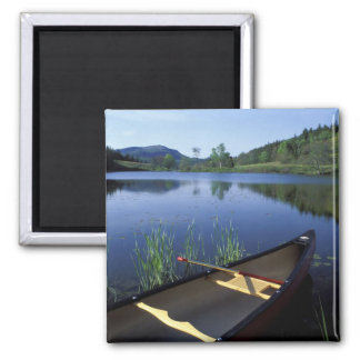 A canoe rests on the shore of Little Long Pond Fridge Magnets