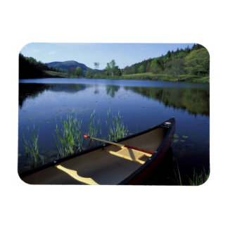 A canoe rests on the shore of Little Long Pond Rectangular Photo Magnet